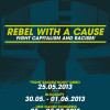 REBEL WITH A CAUSE Kampagnenplakat