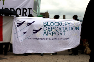 Blockupy Deportation Airport Transpi
